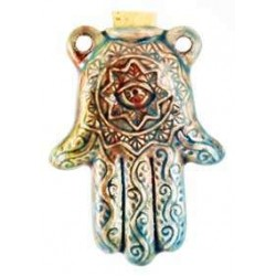 Hamsa Hand Raku Oil Bottle Necklace All Wicca Wiccan Altar Supplies, Books, Jewelry, Statues