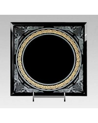 Celtic Border Black Acrylic Scrying Mirror All Wicca Store Magickal Supplies Wiccan Supplies, Wicca Books, Pagan Jewelry, Altar Statues