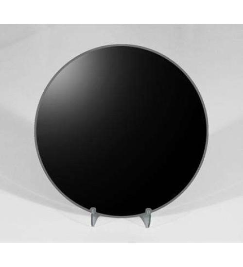 8 Inch Round Black Scrying Mirror