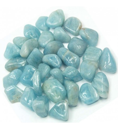 Aquamarine Tumbled Stones - 1 Pound Pack at All Wicca Magickal Supplies, Wiccan Supplies, Wicca Books, Pagan Jewelry, Altar Statues
