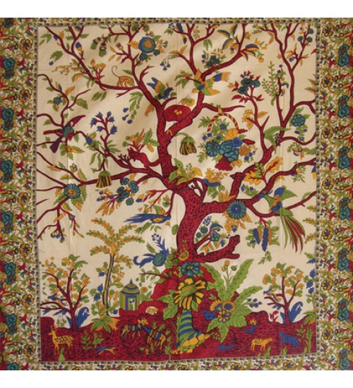 Tree of Life Single Tapestry at All Wicca Store Magickal Supplies, Wiccan Supplies, Wicca Books, Pagan Jewelry, Altar Statues