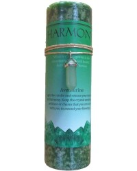 Harmony Crystal Energy Candle with Aventurine Pendant All Wicca Store Magickal Supplies Wiccan Supplies, Wicca Books, Pagan Jewelry, Altar Statues