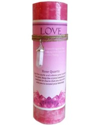 Love Crystal Energy Candle with Rose Quartz Pendant All Wicca Magickal Supplies Wiccan Supplies, Wicca Books, Pagan Jewelry, Altar Statues