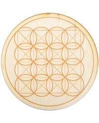 Square Flower of Life Crystal Grid in 3 Sizes All Wicca Store Magickal Supplies Wiccan Supplies, Wicca Books, Pagan Jewelry, Altar Statues
