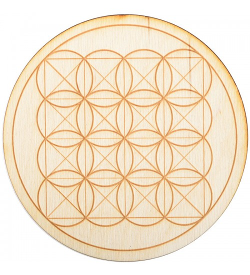 Square Flower of Life Crystal Grid in 3 Sizes at All Wicca Store Magickal Supplies, Wiccan Supplies, Wicca Books, Pagan Jewelry, Altar Statues