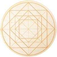 Geometric Symbol Crystal Grid in 3 Sizes