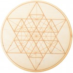 Geometric Star Crystal Grid in 3 Sizes