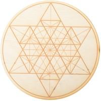 Geometric Star Crystal Grid in 3 Sizes
