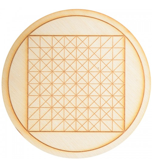 Geometric Square Crystal Grid in 3 Sizes at All Wicca Store Magickal Supplies, Wiccan Supplies, Wicca Books, Pagan Jewelry, Altar Statues