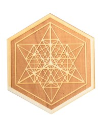 Mekaba Wood Crystal Grid in 3 Sizes All Wicca Store Magickal Supplies Wiccan Supplies, Wicca Books, Pagan Jewelry, Altar Statues