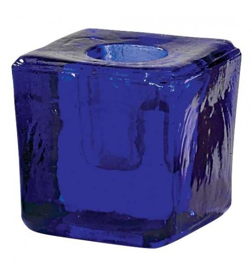 Blue Glass Mini Candle Holder at All Wicca Magickal Supplies, Wiccan Supplies, Wicca Books, Pagan Jewelry, Altar Statues