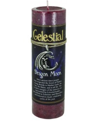 Dragon Moon Celestial Spell Candle with Amulet Pendant All Wicca Store Magickal Supplies Wiccan Supplies, Wicca Books, Pagan Jewelry, Altar Statues