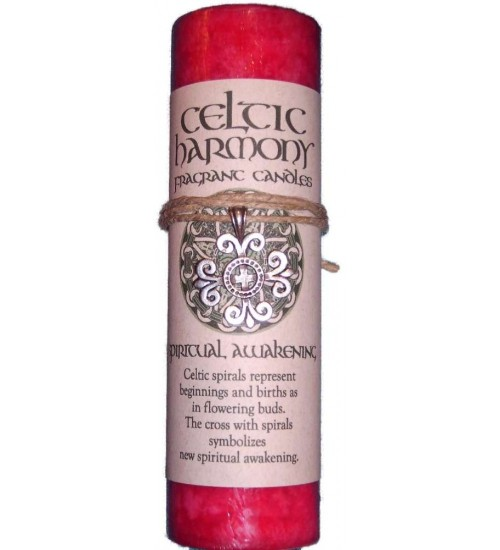 Celtic Harmony Spiritual Awakening Candle with Pendant at All Wicca Store Magickal Supplies, Wiccan Supplies, Wicca Books, Pagan Jewelry, Altar Statues