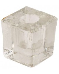 Clear Glass Mini Candle Holder