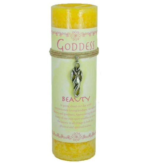 Goddess Beauty Spell Candle with Amulet Pendant at All Wicca Store Magickal Supplies, Wiccan Supplies, Wicca Books, Pagan Jewelry, Altar Statues