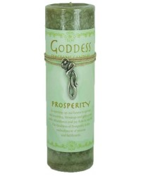 Goddess Prosperity Spell Candle with Amulet Pendant All Wicca Magickal Supplies Wiccan Supplies, Wicca Books, Pagan Jewelry, Altar Statues