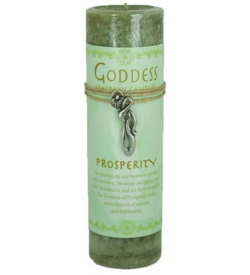 Goddess Prosperity Spell Candle with Amulet Pendant at All Wicca Store Magickal Supplies, Wiccan Supplies, Wicca Books, Pagan Jewelry, Altar Statues