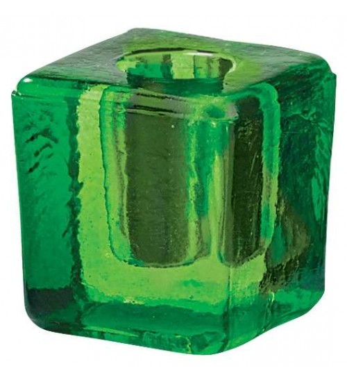 Green Glass Mini Candle Holder at All Wicca Magickal Supplies, Wiccan Supplies, Wicca Books, Pagan Jewelry, Altar Statues