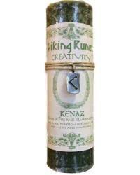 Kenaz Viking Rune Amulet Candle for Creativity All Wicca Magickal Supplies Wiccan Supplies, Wicca Books, Pagan Jewelry, Altar Statues
