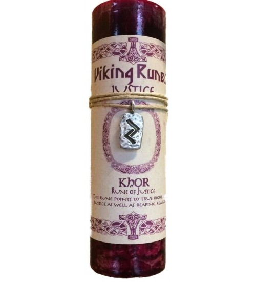 Khor Justice Viking Rune Amulet Candle at All Wicca Supply Shop, Wiccan Supplies, All Wicca Books, Pagan Jewelry, Altar Statues