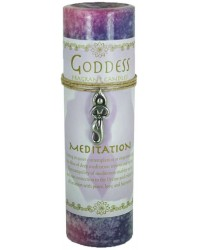 Goddess Meditation Spell Candle with Amulet Pendant All Wicca Store Magickal Supplies Wiccan Supplies, Wicca Books, Pagan Jewelry, Altar Statues