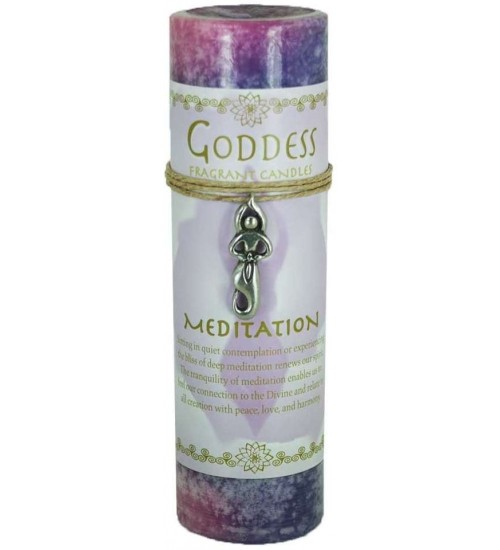 Goddess Meditation Spell Candle with Amulet Pendant at All Wicca Store Magickal Supplies, Wiccan Supplies, Wicca Books, Pagan Jewelry, Altar Statues