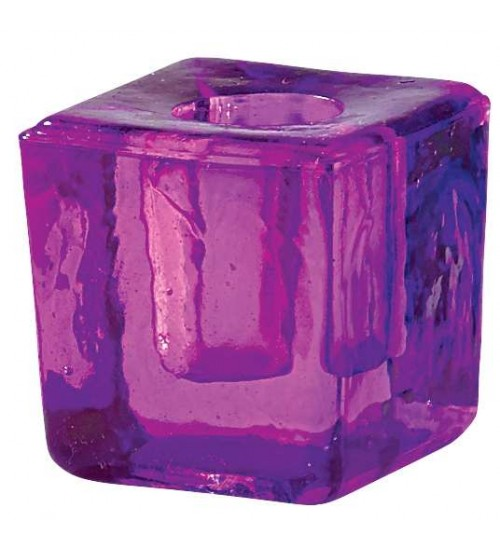 Purple Glass Mini Candle Holder at All Wicca Magickal Supplies, Wiccan Supplies, Wicca Books, Pagan Jewelry, Altar Statues