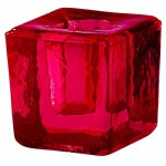 Red Glass Mini Candle Holder