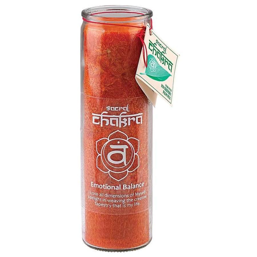 Sacral Chakra Glass Jar Pillar Candle