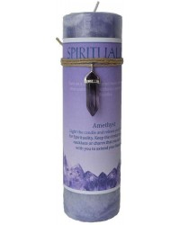 Spirituality Crystal Energy Candle with Amethyst Pendant All Wicca Store Magickal Supplies Wiccan Supplies, Wicca Books, Pagan Jewelry, Altar Statues