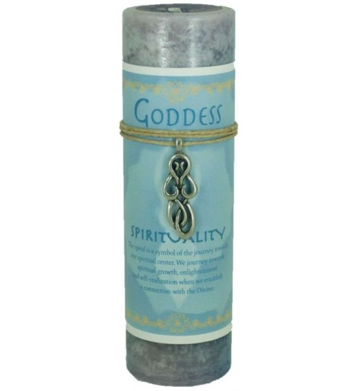 Goddess Spirit Spell Candle with Amulet Pendant at All Wicca Store Magickal Supplies, Wiccan Supplies, Wicca Books, Pagan Jewelry, Altar Statues