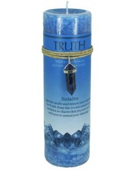 Truth Crystal Energy Candle with Sodalite Pendant All Wicca Store Magickal Supplies Wiccan Supplies, Wicca Books, Pagan Jewelry, Altar Statues