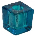 Turquoise Glass Mini Candle Holder