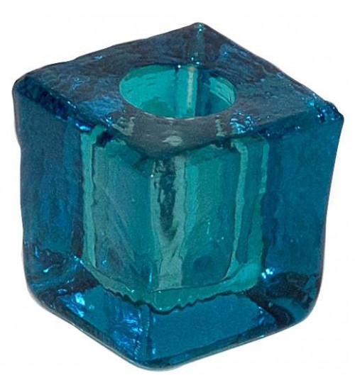 Turquoise Glass Mini Candle Holder at All Wicca Store Magickal Supplies, Wiccan Supplies, Wicca Books, Pagan Jewelry, Altar Statues