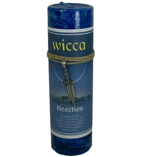 Wicca Direction Spell Candle with Amulet Pendant at All Wicca Store Magickal Supplies, Wiccan Supplies, Wicca Books, Pagan Jewelry, Altar Statues