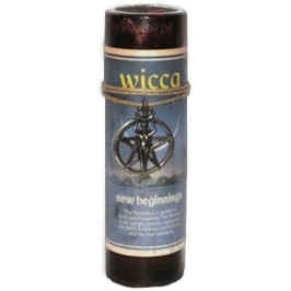 Wicca New Beginnings Spell Candle with Amulet Pendant