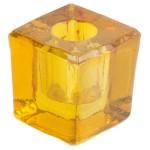 Yellow Glass Mini Candle Holder