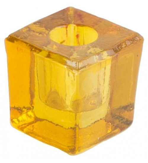 Yellow Glass Mini Candle Holder at All Wicca Store Magickal Supplies, Wiccan Supplies, Wicca Books, Pagan Jewelry, Altar Statues