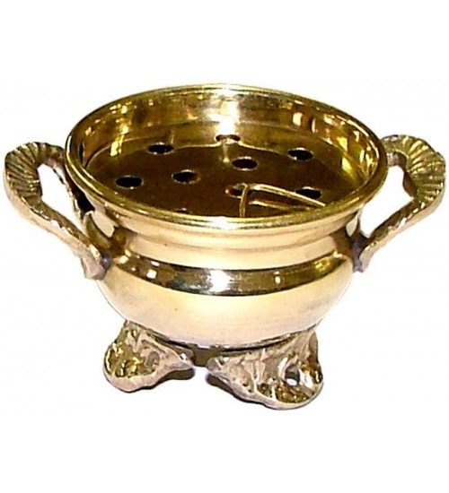 Brass Cauldron Incense Burner at All Wicca Store Magickal Supplies, Wiccan Supplies, Wicca Books, Pagan Jewelry, Altar Statues