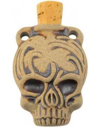 Calavera Skull Dead of the Dead Oil Bottle Necklace All Wicca Store Magickal Supplies Wiccan Supplies, Wicca Books, Pagan Jewelry, Altar Statues