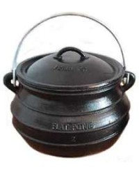 Potjie Cast Iron Flat Pot - 2 Quart Size 1/2 All Wicca Store Magickal Supplies Wiccan Supplies, Wicca Books, Pagan Jewelry, Altar Statues