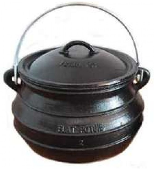 Potjie Cast Iron Flat Pot - 2 Quart Size 1/2 at All Wicca Store Magickal Supplies, Wiccan Supplies, Wicca Books, Pagan Jewelry, Altar Statues