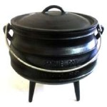 Cast Iron Potjie Cauldron - 3/4 Gallon Size 1