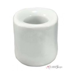 White Mini Taper Candle Holder All Wicca Wiccan Altar Supplies, All Wicca Books, Pagan Jewelry, Wiccan Statues