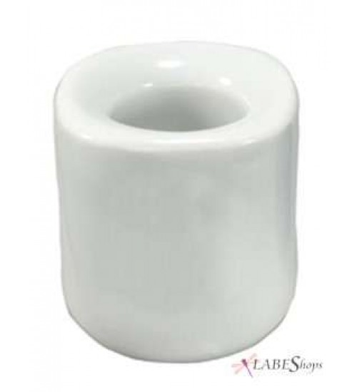 White Mini Taper Candle Holder at All Wicca Store Magickal Supplies, Wiccan Supplies, Wicca Books, Pagan Jewelry, Altar Statues