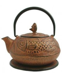 Fish Design Cast Iron Tea Pot All Wicca Magickal Supplies Wiccan Supplies, Wicca Books, Pagan Jewelry, Altar Statues