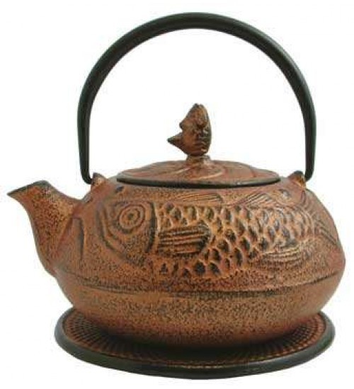 Fish Design Cast Iron Tea Pot at All Wicca Store Magickal Supplies, Wiccan Supplies, Wicca Books, Pagan Jewelry, Altar Statues