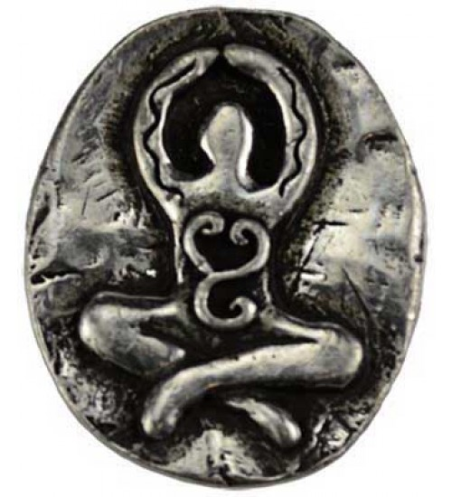 Goddess Pewter Pocket Charm at All Wicca Store Magickal Supplies, Wiccan Supplies, Wicca Books, Pagan Jewelry, Altar Statues