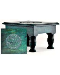 Greenman Wood Altar Table All Wicca Store Magickal Supplies Wiccan Supplies, Wicca Books, Pagan Jewelry, Altar Statues
