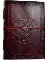 Pentagram Leather 10 Inch Journal with Cord